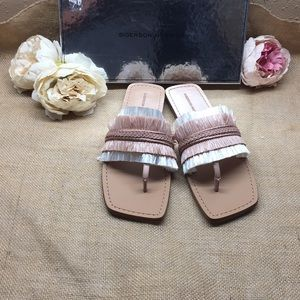 Sigerson Morrison Woven Sandal, Size 10 M - Pink